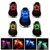 Trenzas De Silicon Con Luces Led Para Zapatos Fibra