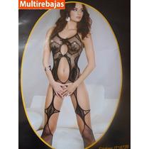 Lenceria Tentadora Con Hilo Y Medias, Malla Sexy, Baby Doll