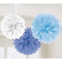 Flores Papel De Seda, Pompones, Decoracion - Pack 15 Cm