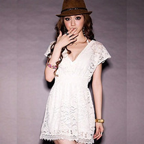 Blusa Larga Encaje, Talla Chica Moda Japonesa