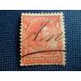 Estampilla (escuelas) 1 Bolivar 1887 Usada 12 Perf.
