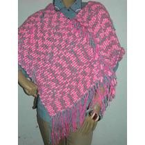 Poncho Mujer Tejido En Telar Artesanales Colores Exclusivos