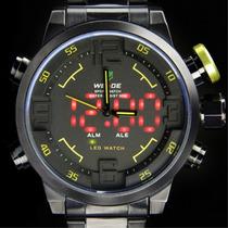 Relógio Weide Pulso Militar Sports Led Digital E Analógico