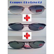 Óculos De Sol Aviador (leve 03 Pague 01) Demolidor + Brinde