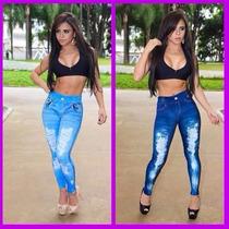 Calça Legging Jeans Feminina Sublimada Melhor Preço Do Ml...