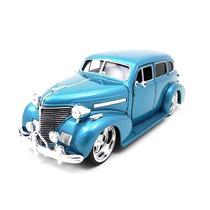 Chevy Master Deluxe 1939 1:24 Jada Toys Azul Metalico