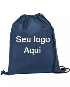 b0ba07d76 Kit 100 Mochilas Nylon Personalizadas Logomarca Medida 20x30 - R  570