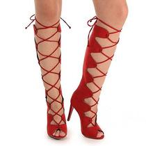 Summer Boots Feminina Lara - Vermelho