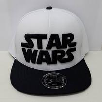 Boné Star Wars Branco E Preto Ajustável De Aba Reta Nacional