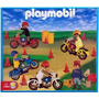Playmobil Carrera De Motos + 5 Figuras Art. 1-9523 Antex