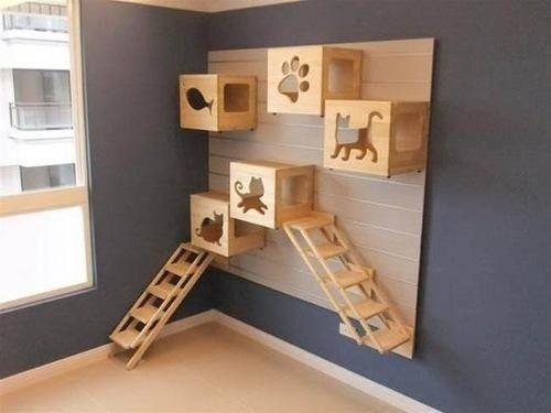 caixas escadas prateleira de gatos para parede kit 7 pe as r 379 00 em mercado livre. Black Bedroom Furniture Sets. Home Design Ideas