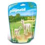 Educando Playmobil Línea Zoo Alpaca Con Cría 6647