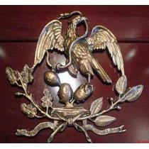 Figura De Metal Águila Mexicana Tipo Bronce