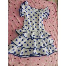 Vestido De Flamenco Niña Talla 5-6 Sku