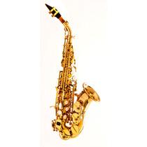 Sax Soprano Curvo Hoyden Hsc-25l Sib - Laqueado Com Estojo