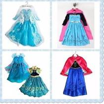 Disfraz Frozen Elsa Princesa Anna Traje Vestido Niña Fever