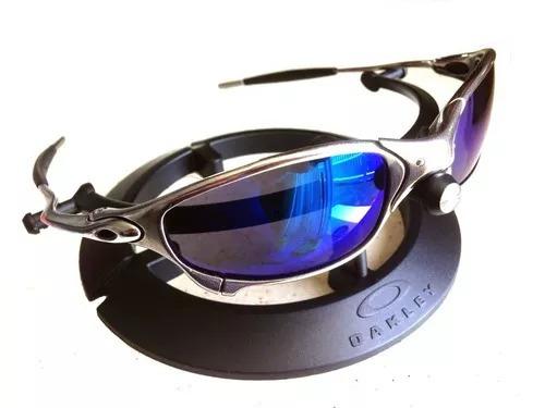 d62307baff969 Oculos Oakley Juliet Cromado Polarizado Lente Azul Oferta - R  149 ...