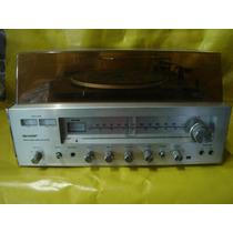 Conjto De Som 2 X 1 Sharp Sd-210b - Prata - Impecavel - Ok.