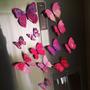 12 Mariposas Imantada Y Adhesiva Rosado B Decorativas
