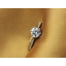 Anillo Compromiso Cristal Swarovski, Oro Rosa 18 Kts.