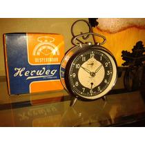 Relíquia: Relógio Despertador Herweg Exportação- Década/1960