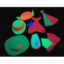 Combo Sombreros Gorros Divertidos Cotillón Carioca Fluo X 24