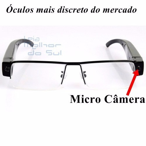 Óculos Espião Com Câmera Espiã Micro Filmadora Vídeo E Fotos - R  369,99 em  Mercado Livre ae2e4866a1