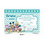 Convite Infantil Aniversário Disney Baby Mickey Minnie