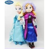 Kit 2 Bonecas De Pelucia Frozen Elsa E Ana Musical Grande