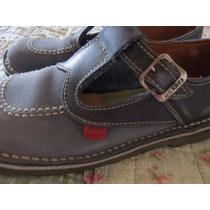 Zapatos Kickers Niña 33 Guillerminas Originales Cuero/gamuza