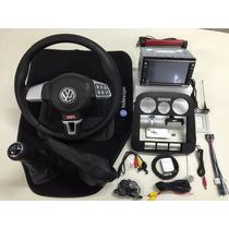 Kit Volante Multifuncional + Central Multimídia Vw Gol G4