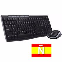 Kit Teclado Y Mouse Inalambrico Logitech Mk270 Multimedia Ñ