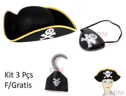 Chapeu Pirata Gancho 2bd52493855