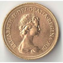 Inglaterra 1 Libra 1979 7,98 Gramas Ouro 916 Linda Elizabeth