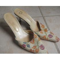 Zapatos Stilettos Ricky Sarkany En Rafia Estampada