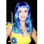 Peruca Adulto Katy Perry Azul