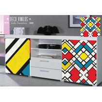 Vinilo Decorativo Impreso Muebles Pared Vidrio Rosario