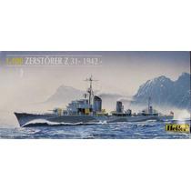 Barco Militar Zerstorer Z31 1942 Maquetas Para Armar Heller