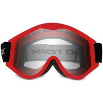 Oculos Motocross Pro Tork 788 Trilha Off Road Cross Vermelho