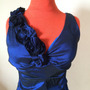 Vestido De Fiesta Y Chalas Color Azul