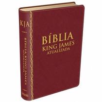 Bíblia De Estudo King James Atualizada - Cp Couro Vinho