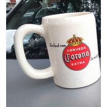 Antiguo Tarro Cerveza Corona Extra -de Ceramica Blanco