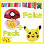 Pokebola + Pikachu + Llavero Pokémon Pack Poké