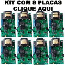 Kit 8 Placas Universal Para Portao Eletronico Todas Marcas