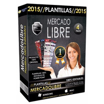 4 Plantillas Mercado Libre 2015 2016 Editables Powerpoint