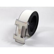 Precioso Cinturon Reversible Hermes Blanco
