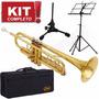 Kit Trompete Shelter Sft6418l Sib Laqueado Completo Promoção
