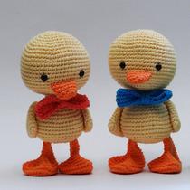 Pato, Muñeco A Crochet, Amigurumi Hilo 100% Algodón