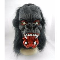 Máscara Chimpanzé Gorila Macaco Animal Fantasia Halloween