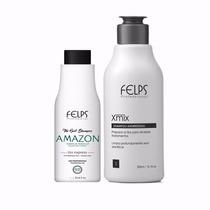 Felps Amazon Shampoo Que Alisa 100ml + Sh Antiresíduo 300ml